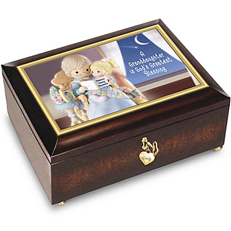 A Granddaughter Is God's Blessing Personalized Music Box