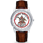 King Of Beers Anheuser-Busch Budweiser Men's Retro Watch With Leather Band