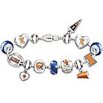 Bracelet - Go University Of Illinois Fighting Illini! #1 Fan Charm Bracelet
