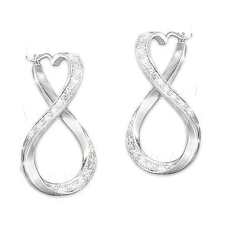 Forever My Granddaughter Engraved Genuine Diamond Earrings