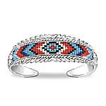 Mesa Verde Native-American Inspired Beaded Cuff Bracelet