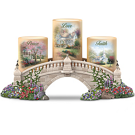 Thomas Kinkade Bridge Of Blessings Candle Holder