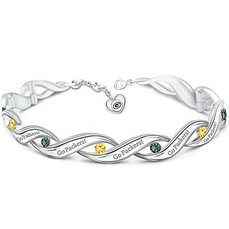 NFL-Licensed Green Bay Packers Pride Women's Designer Bracelet