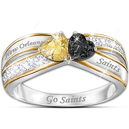 Officially Licensed New Orleans Saints Heart Of New Orleans Women's Ring