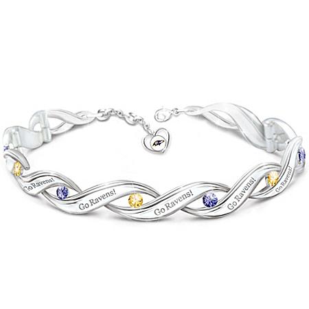 NFL-Licensed Baltimore Ravens Pride Women's Designer Bracelet