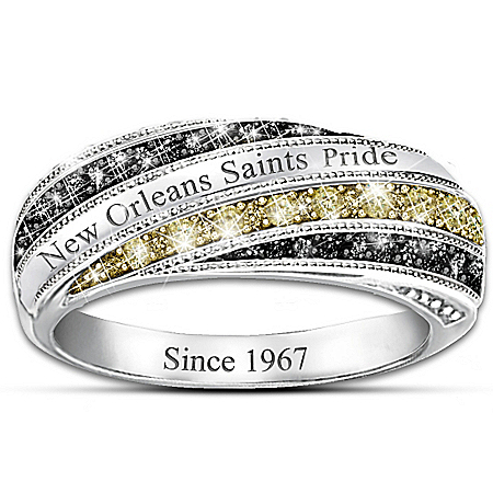 Saints In Vogue Officially Licensed New Orleans Saints Women's Ring