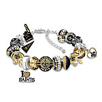 Fashionable Fan New Orleans Saints NFL Charm Bracelet