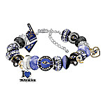 Fashionable Fan Officially Licensed Baltimore Ravens Beaded Charm Bracelet