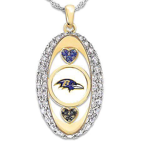 For The Love Of The Game NFL Baltimore Ravens Women's Pendant Necklace