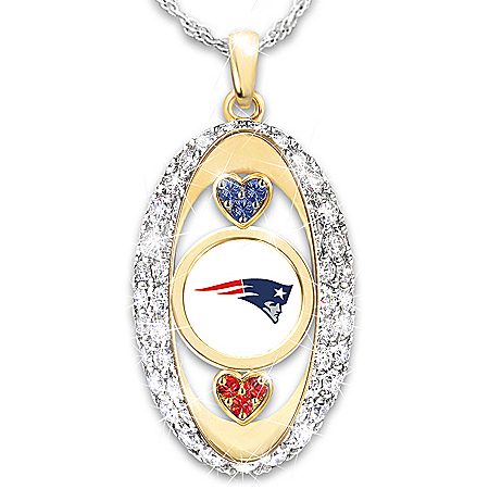 For The Love Of The Game NFL New England Patriots Women's Necklace