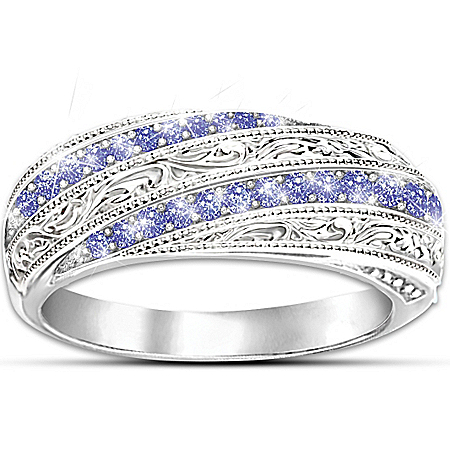 Ring: Tanzanite Gemstone Elegance Ring