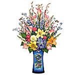 Claude Monet's Artistic Impressions Crystal Vase Table Centerpiece