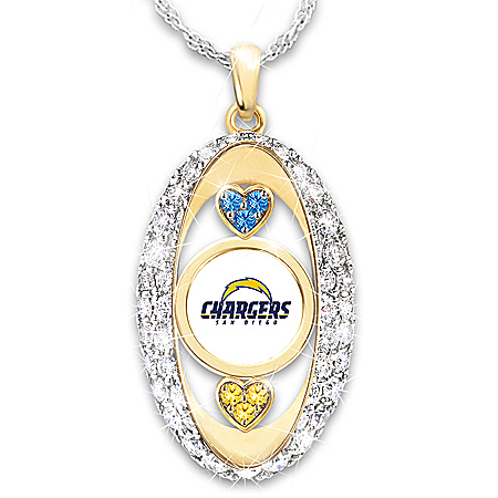 For The Love Of The Game San Diego Chargers 18K Gold-Plated Pendant Necklace