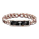 Power Of Faith Men's Copper Healing Diamond Bracelet