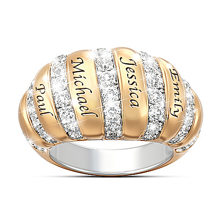 kathy ireland A Mother's Love Personalized Women's Ring