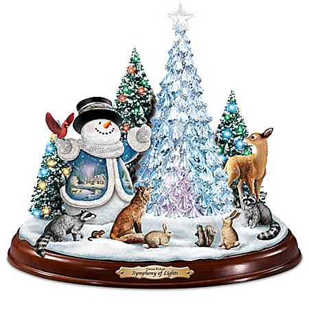 Thomas Kinkade Symphony Of Lights Illuminated Christmas Sculpture