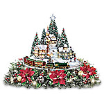 Thomas Kinkade Holidays Bring You Home Illuminating Village Table Centerpiece