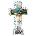 Thomas Kinkade Inspirations Of Hope Cross Sculpture