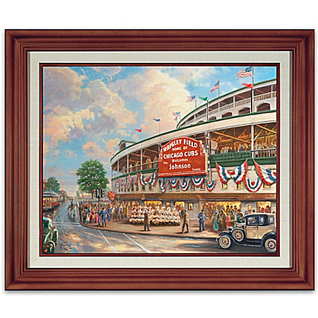 Wall Decor: Thomas Kinkade Wrigley Field Memories And Dreams Personalized Wall Decor