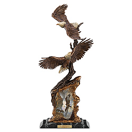 Ted Blaylock Soaring Spirits Collectible Bald Eagle Sculpture