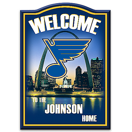 NHL®-Licensed St. Louis Blues® Personalized Welcome Sign