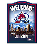 NHL-Licensed Colorado Avalanche Personalized Welcome Sign
