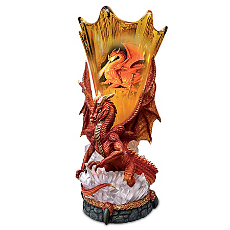 Hildebrandt Brothers Born Of Fire Dragon Torchiere Lamp