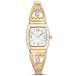 Ribbons Of Hope Breast Cancer Support Stretch Women's Watch