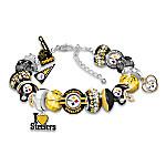 Fashionable Fan Pittsburgh Steelers NFL Charm Bracelet