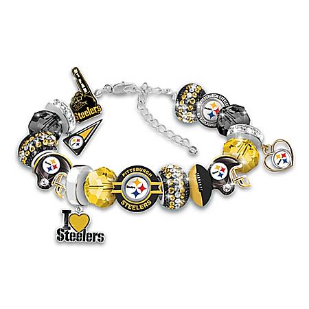 Fashionable Fan Steelers Bracelet