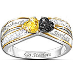 Officially Licensed Pittsburgh Steelers Heart Of Pittsburgh Women's Ring