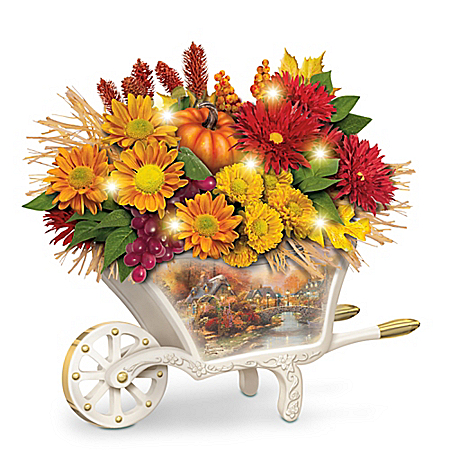 Thomas Kinkade Seasonal Splendor Illuminated Table Centerpiece