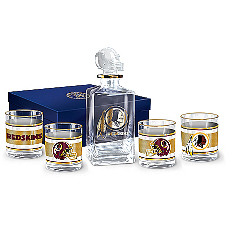 NFL Washington Redskins Five Piece Decanter Set With Glasses 121197008