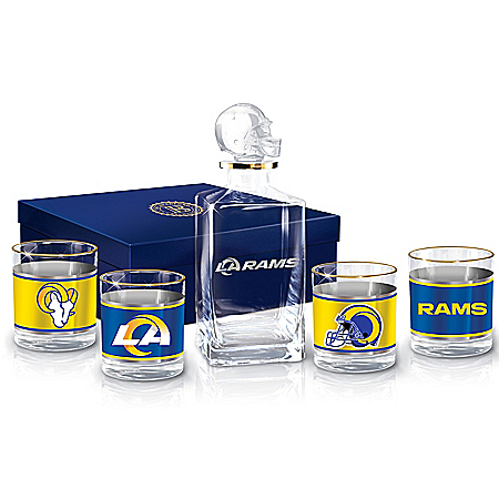 Los Angeles Rams NFL Glass Decanter Set