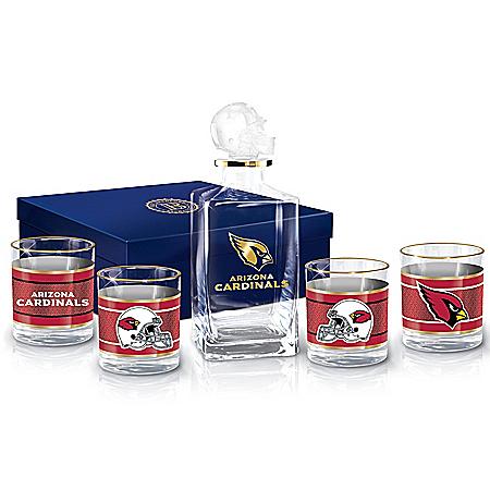Arizona Cardinals NFL Glass Decanter Set