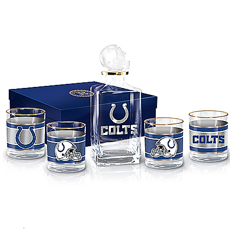Indianapolis Colts NFL Glass Decanter Set
