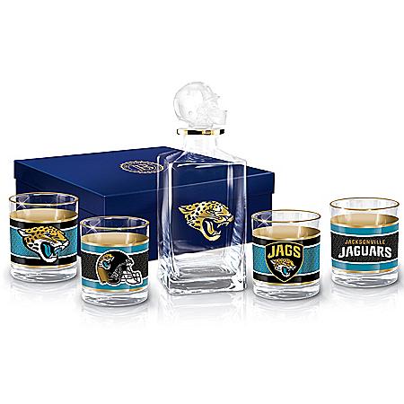 Jacksonville Jaguars NFL Glass Decanter Set