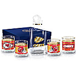 Kansas City Chiefs NFL Glass Decanter Set