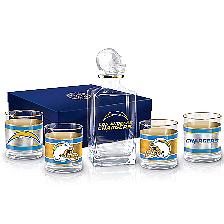 Los Angeles Chargers NFL Glass Decanter Set