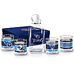 Tennessee Titans NFL Glass Decanter Set