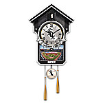 MLB-Licensed Chicago White Sox Cuckoo Wall Clock Featuring Bird With Baseball Cap