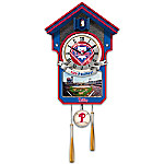 MLB-Licensed Philadelphia Phillies Cuckoo Wall Clock Featuring Bird With Baseball Cap