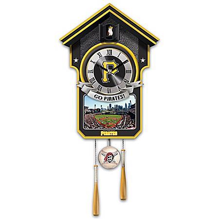 Moments Of Greatness: Pittsburgh Pirates Baseball Cuckoo Clock