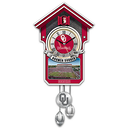 University Of Oklahoma Sooners College Football Cuckoo Clock