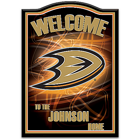 NHL-Licensed Anaheim Ducks® Personalized Welcome Sign