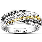 Steelers In Vogue Officially Licensed Pittsburgh Steelers Women's Ring