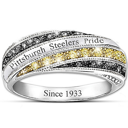Steelers In Vogue NFL Pittsburgh Steelers Women's Ring