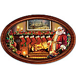 Thomas Kinkade Cherished Christmas Memories Personalized Wall-Hanging Collector Plate