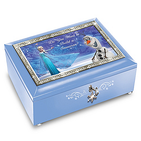 Disney FROZEN Blue Music Box: Plays Do You Want To Build A Snowman