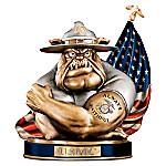 To Save And Protect Cold-Cast Bronze USMC Devil Bulldog Bank
